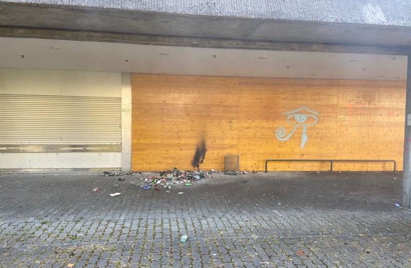 Stein am Rhein: Abfallsack angezündet